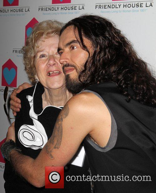 Peggy Albrecht and Russell Brand