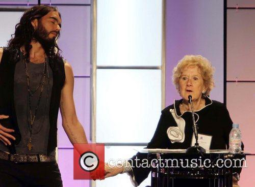 Russell Brand and Peggy Albrecht 1