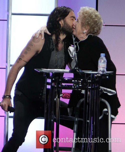 Russell Brand and Peggy Albrecht 2