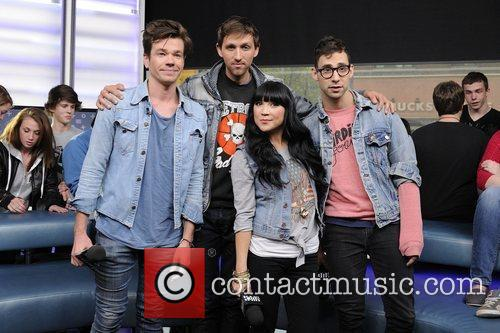 Nate Ruess, Andrew Dost, Jack Antonoff, and host...