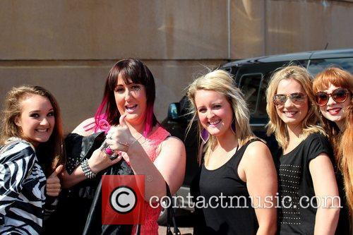 Sami Brookes poses with fans Performances at Fun...