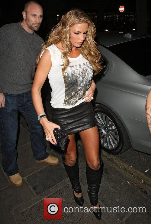 Katie Price arriving at Funky Buddha nightclub