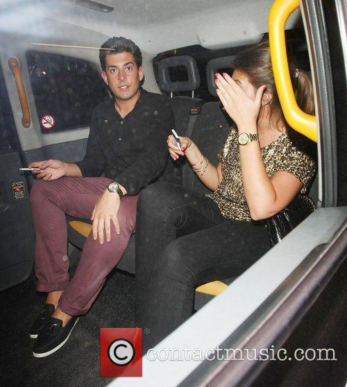 James Argent leaving Funky Buddha Club with a...