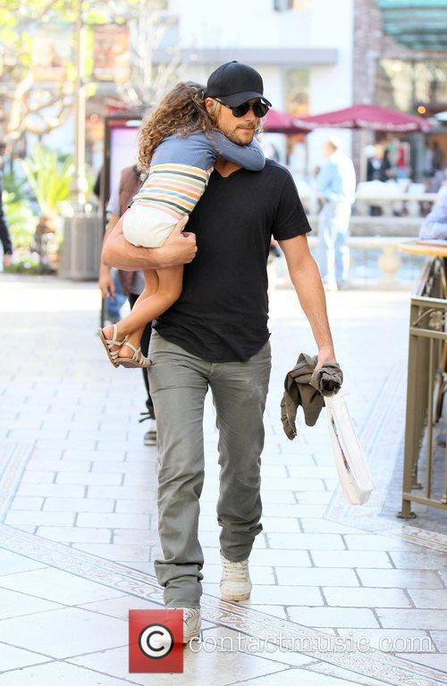 Gabriel Aubry and his daughter Nahla Aubry are...