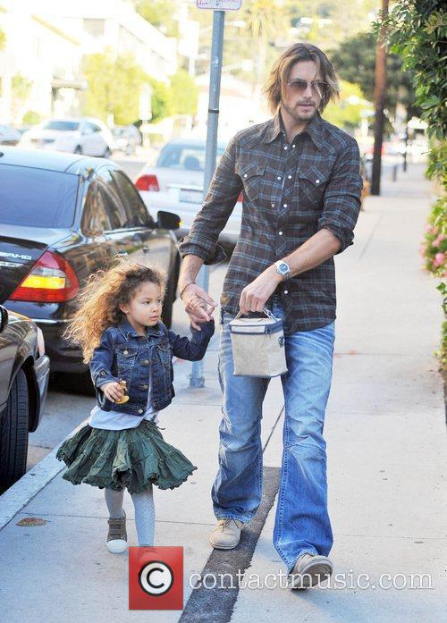 Gabriel Aubry brings his daughter Nahla Aubry to...