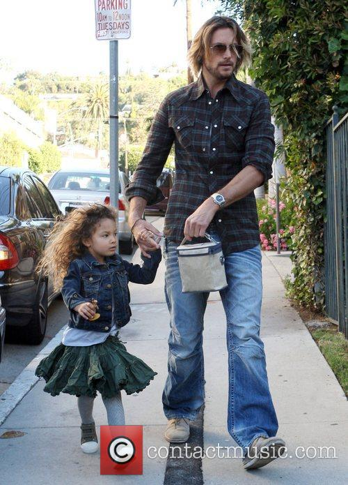 Gabriel Aubry takes his daughter Nahla Aubry to...