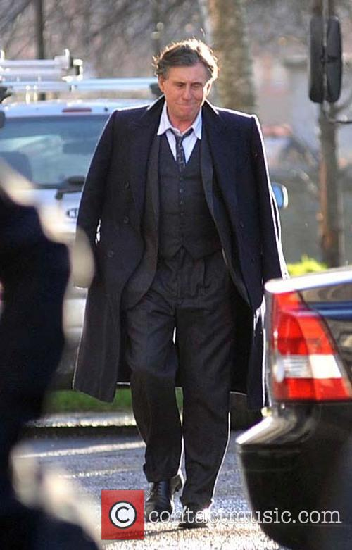 Gabriel Byrne Gabriel Byrne on the set of...