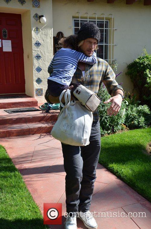 Gabriel Aubry picks up his daughter Nahla from...