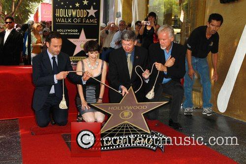 Andrew Lincoln, Gale Anne Hurd, Leron Gubler and James Cameron 3
