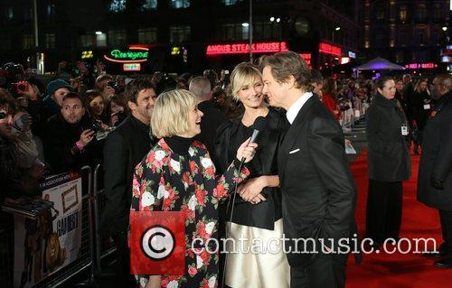 Edith Bowman, Cameron Diaz and Colin Firth 8