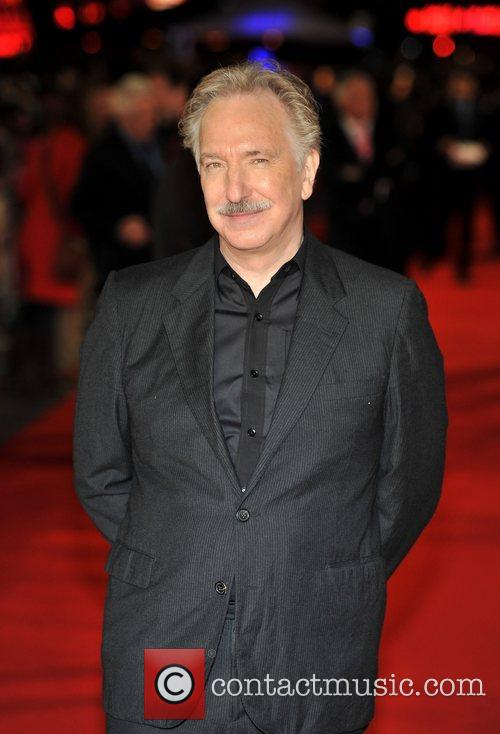 Alan Rickman at Gambit premiere