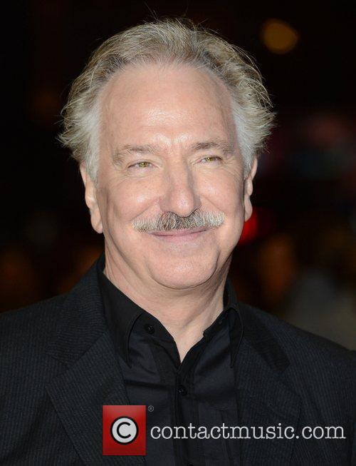 Alan Rickman at the World Premiere of 'Gambit'...