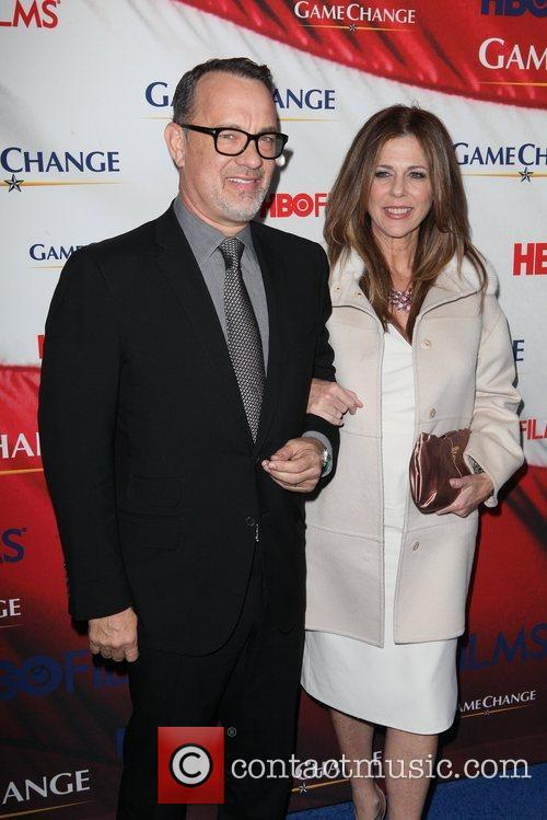 Tom Hanks, Rita Wilson and Ziegfeld Theatre 6