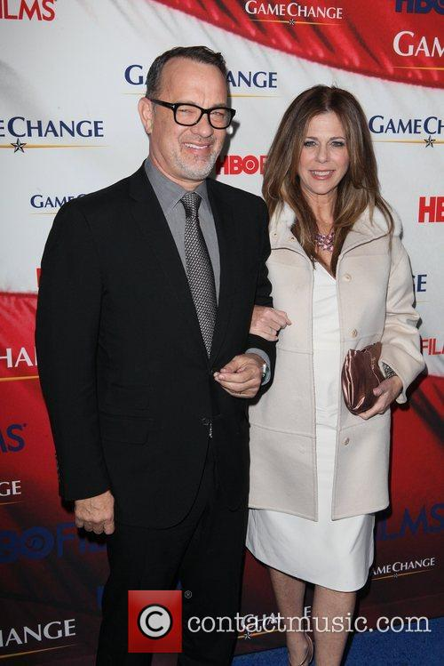 Tom Hanks, Rita Wilson and Ziegfeld Theatre 1