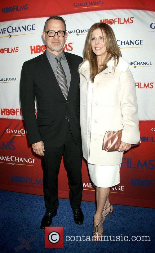 Tom Hanks, Rita Wilson and Ziegfeld Theatre 3