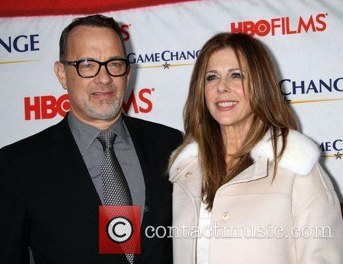 Tom Hanks, Rita Wilson and Ziegfeld Theatre 4