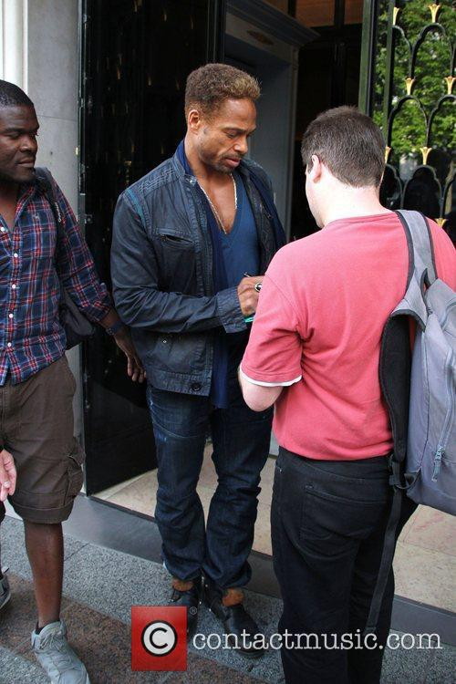 Gary Dourdan leaving the Georges V Hotel.