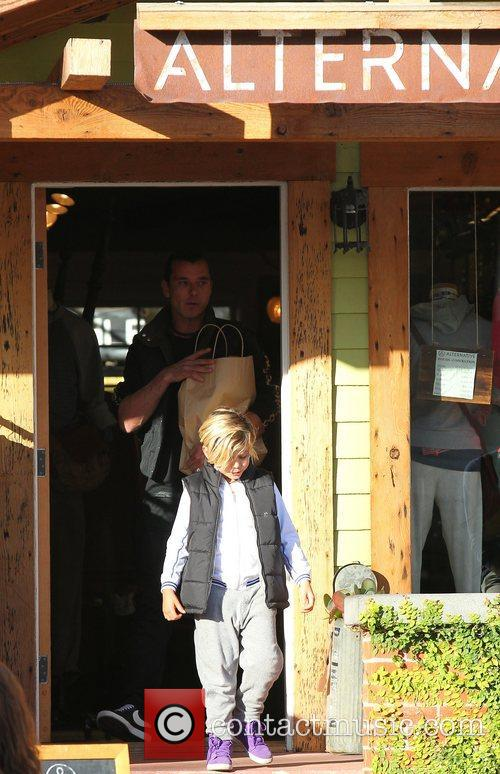 Gavin Rossdale and Kingston 5