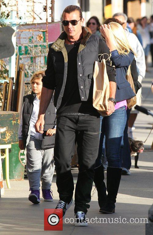 Gavin Rossdale and his son Kingston shop at...