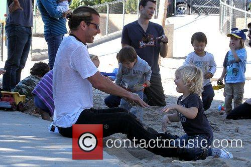 gavin rossdale and zuma rossdale at a 5956749