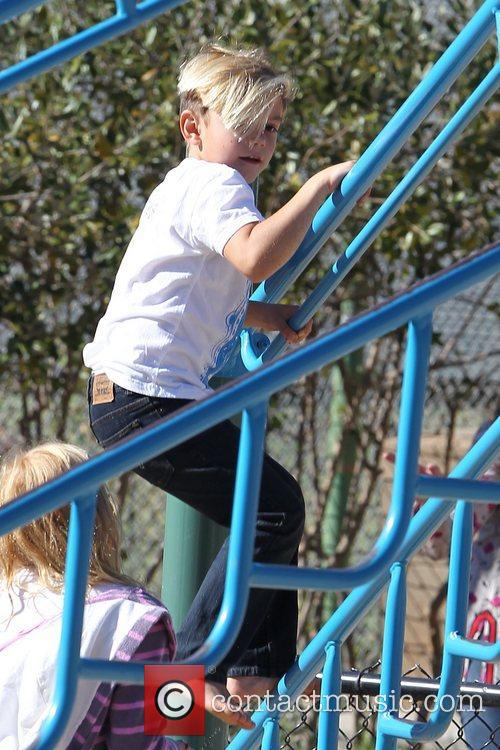 Kingston Rossdale playing at a park in Santa...