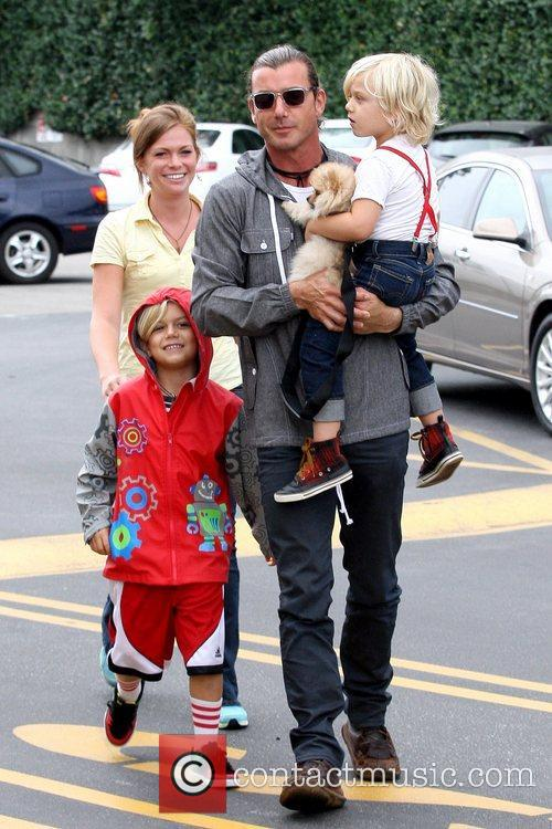 Kingston Rossdale, Gavin Rossdale and Zuma Rossdale 5