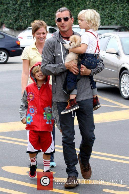 Kingston Rossdale, Gavin Rossdale and Zuma Rossdale 6