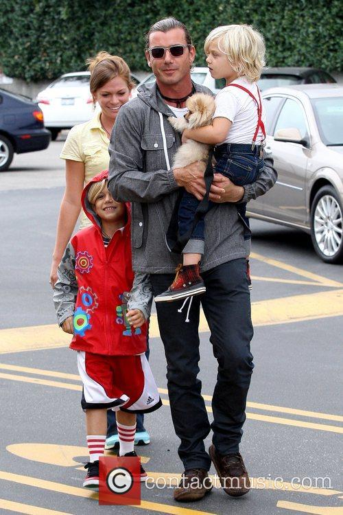 Kingston Rossdale, Gavin Rossdale and Zuma Rossdale 4