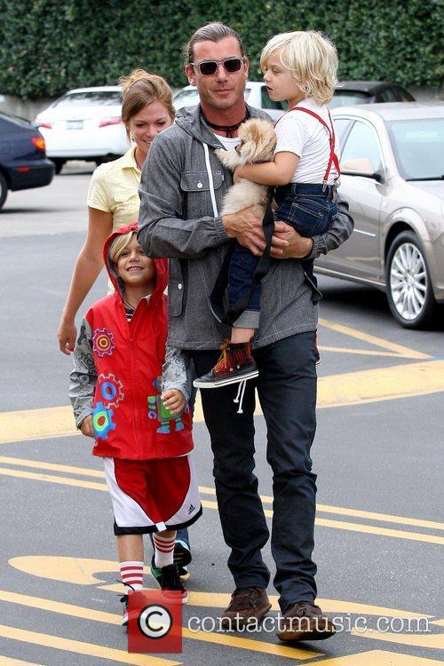 Kingston Rossdale, Gavin Rossdale and Zuma Rossdale 2