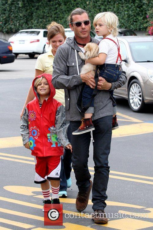Kingston Rossdale, Gavin Rossdale and Zuma Rossdale 3
