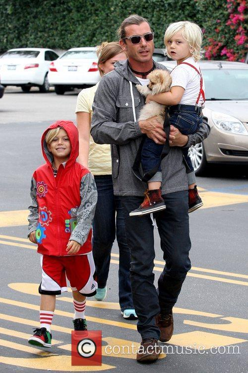 Kingston Rossdale, Gavin Rossdale and Zuma Rossdale 1