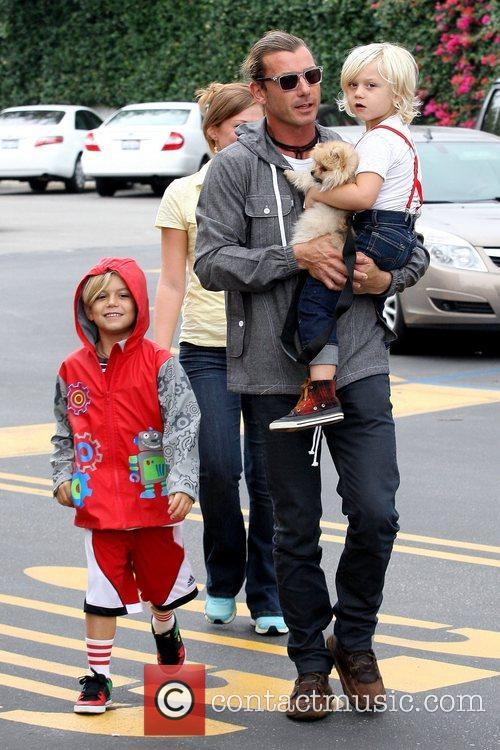 Kingston Rossdale, Gavin Rossdale and Zuma Rossdale 7