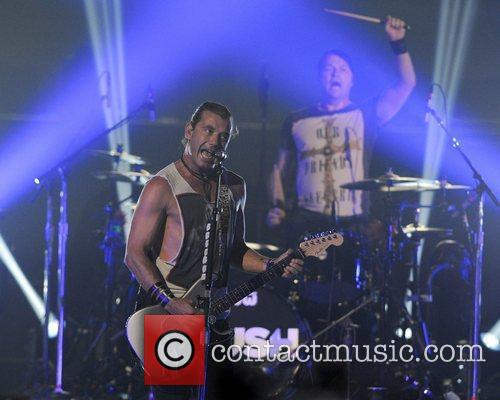 Gavin Rossdale of Bush performs during the Here...