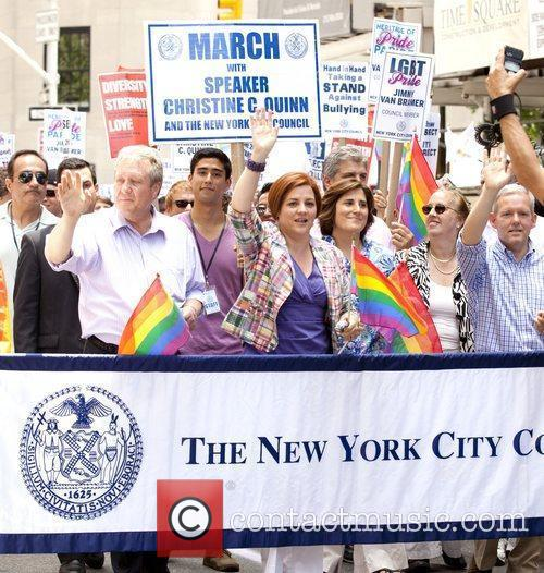 Christine Quinn Heritage of Pride 2012 NYC March...