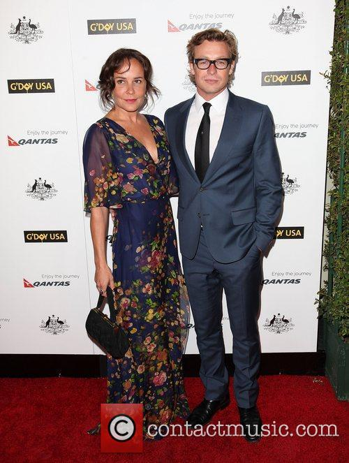 Simon Baker (R) and guest 9th Annual G'Day...