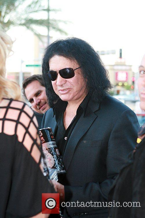 Gene Simmons attends an event at 'KISS' Mini...