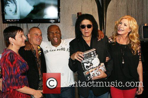 Mike Tyson, Gene Simmons and Shannon Tweed attend...
