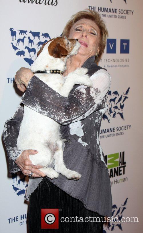 Cloris Leachman and Uggie The Human Society of...