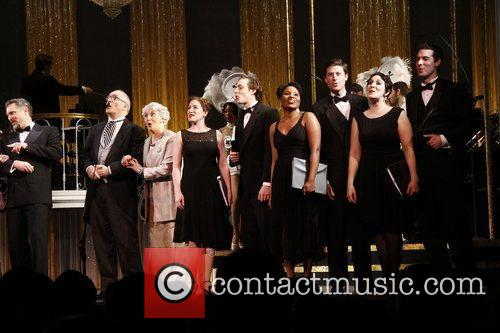 Cast Curtain call for the first performance of...