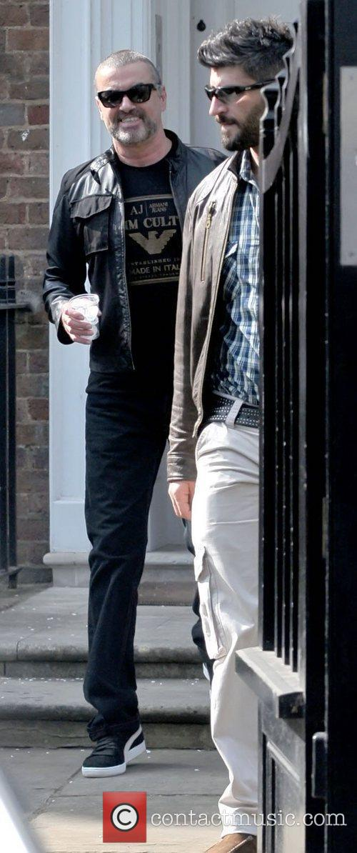 george michael leaving his house with fadi 3791274