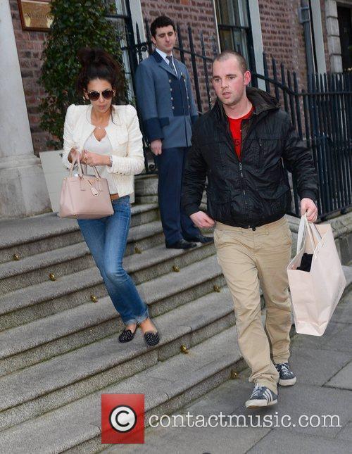 Celebrity Big Brother star Georgia Salpa seen leaving...