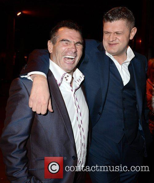 Paddy Doherty, Brendan O'Connor  outside the RTE...