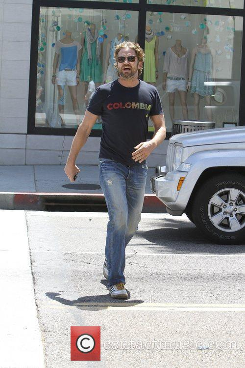 Gerard Butler seen out and about in Beverly...