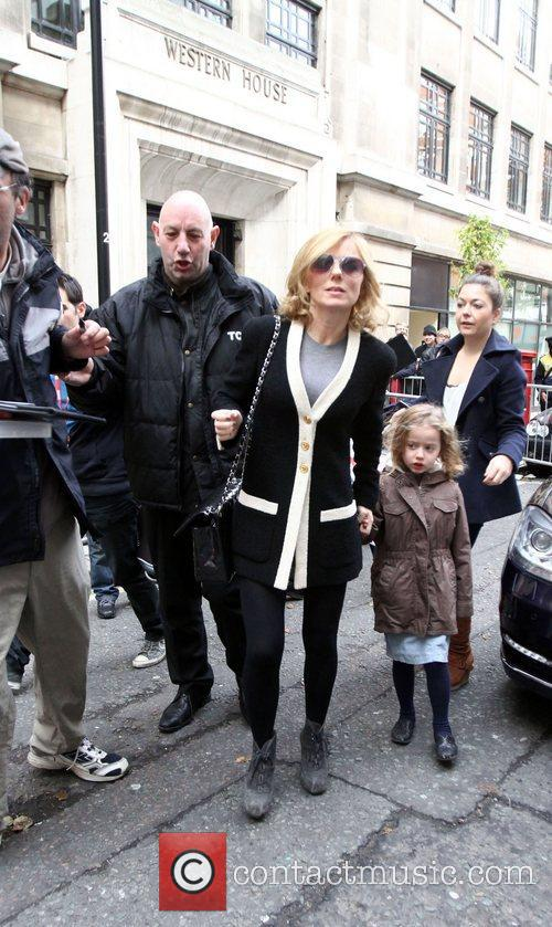 Geri Halliwell  leaving Radio 2 with her...