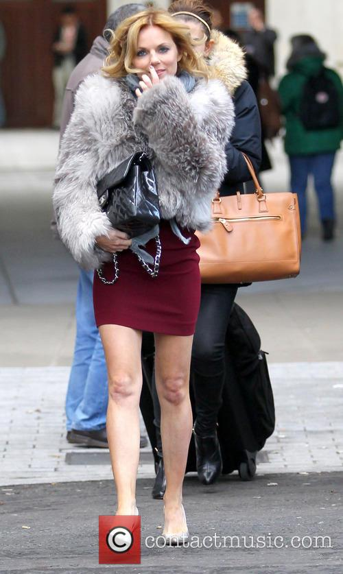 Geri Halliwell leaves the BBC studios  Featuring:...