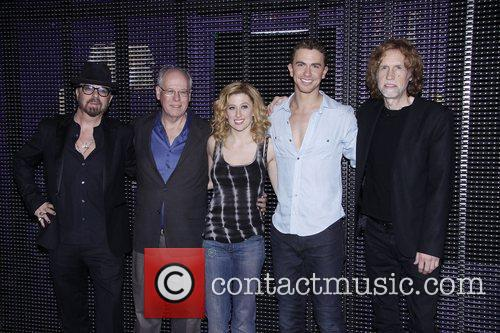 Dave Stewart, Bruce Joel Rubin, Richard Fleeshman and Lunt-fontanne Theatre