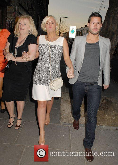 At the launch of Amy Childs' SS12 Clothing...