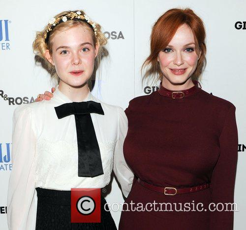 Elle Fanning and Christina Hendricks 7