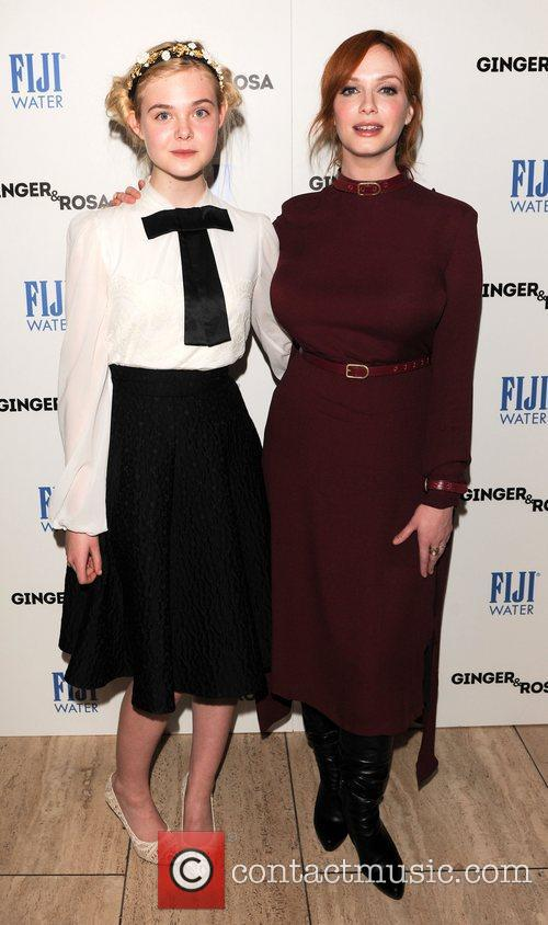 Elle Fanning and Christina Hendricks 10