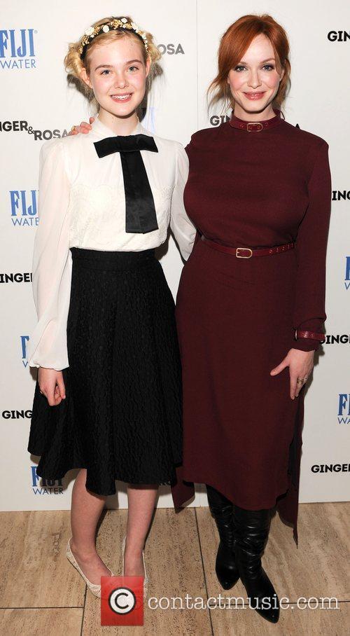 Elle Fanning and Christina Hendricks 1